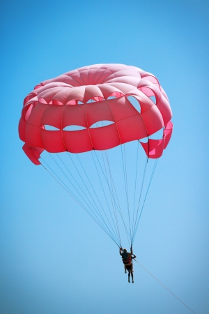 watersports: Couple of parasailers in the air