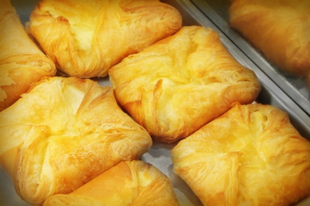 cream puff: Filled pastry Stock Photo