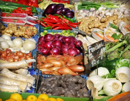 Vegetables at a market photo
