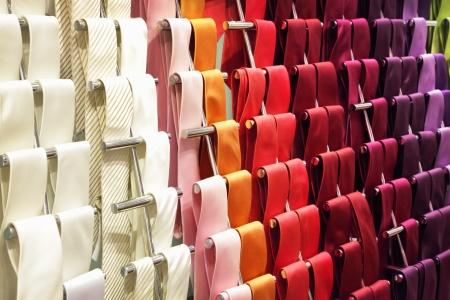 neck ties: Different neckties in a shop