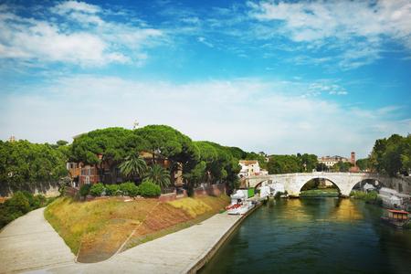 View of Tiberina island in Rome, Italy Stock Photo - 22303891