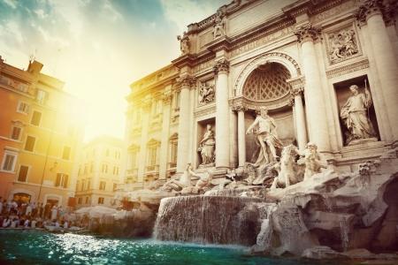 イタリア、ローマのトレビの泉 写真素材