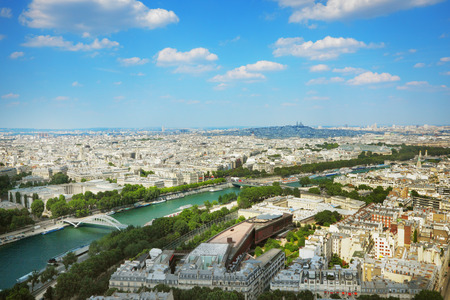 Panorama of Paris from the Eiffel Tower, France