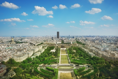 View from Eiffel tower on Champs de Mars Stock Photo - 22303968