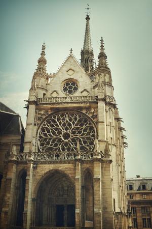 church window: Sainte Chapelle Stock Photo