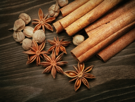 cardamum: Close up of aromatic spices