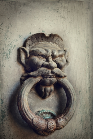 Old door knocker from Italy photo