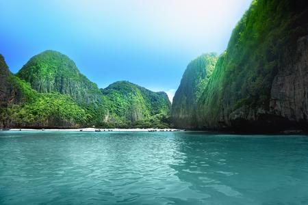 View of Maya Bay, Phi Phi island, Thailand photo