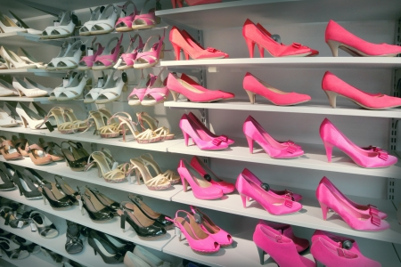 Shoes in a shoe store photo