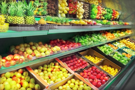 Fruits in supermarket Stock Photo - 22689760