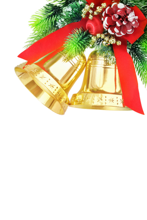Christmas bells isolated on white  photo