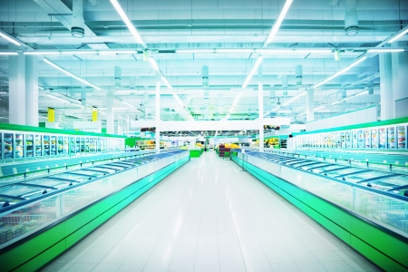 Various products in a supermarket Stockfoto