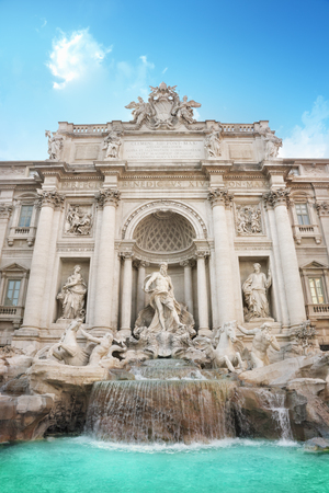 bernini: Trevi Fountain in Rome, Italy