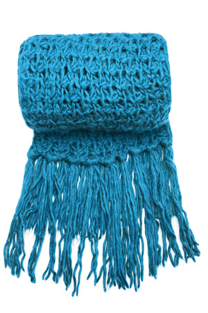 fringes: Wool scarf on white