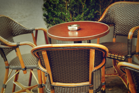 parisian: Typical outdoor cafe in Paris Stock Photo