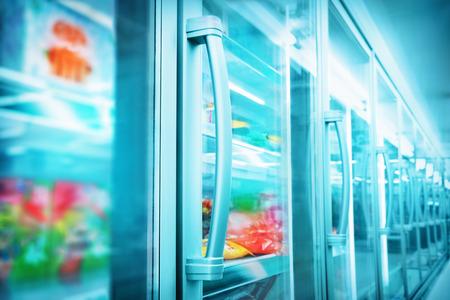 refrigerator with food: Supermarket