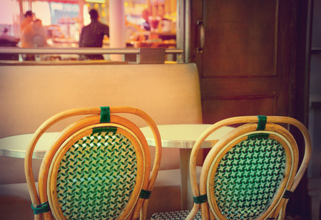 cane chair: Cafe in Paris