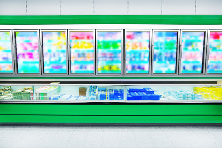 supermarket cash: Frozen Foods in a supermarket