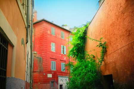 Old streets of Rome, Italy photo