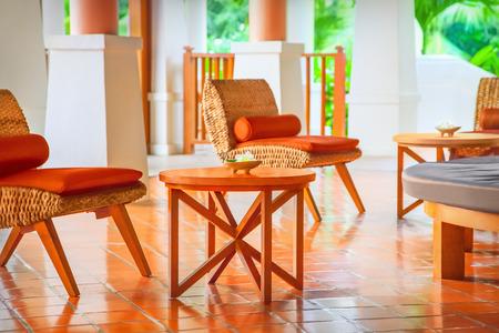 furnishings: Hotel hall Stock Photo