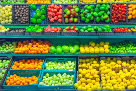 Fruits in supermarket photo