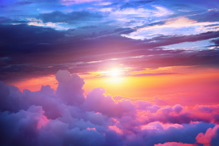cloud cover: Sunset Stock Photo