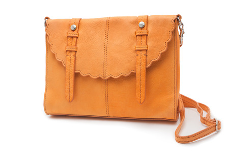 browns: Handbag isolated over white background Stock Photo