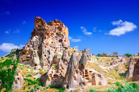 Stone formation in Cappadocia Turkey Archivio Fotografico