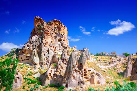 Stone formation in Cappadocia Turkey Stockfoto