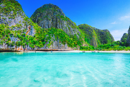 View of Maya Bay Phi Phi island Thailand