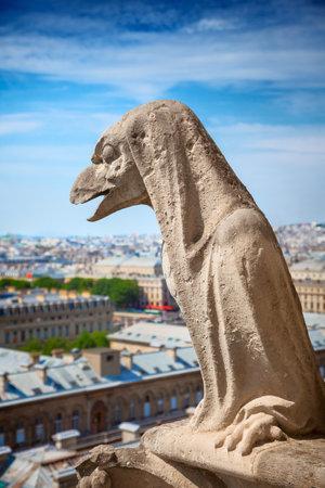 gargouille: La Gargouille de Notre-Dame vue sur Paris �ditoriale