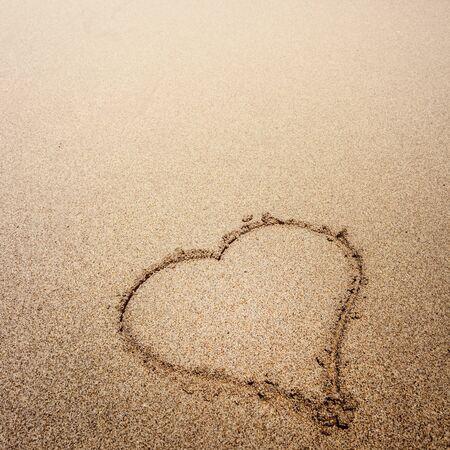 heart in sand: Sand heart Stock Photo