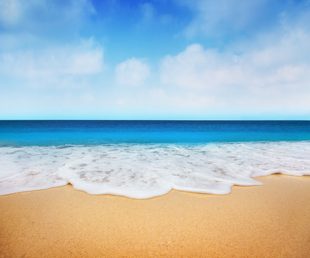 blue sea: Beach Stock Photo