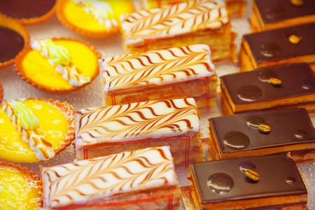 Cakes close up