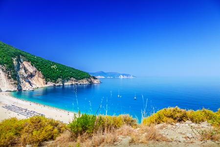paradise beach: Myrtos beach, Kefalonia, Greece