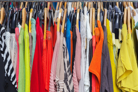 clothing store: Clothes on the hanger