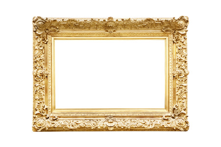 baroque picture frame: Golden frame