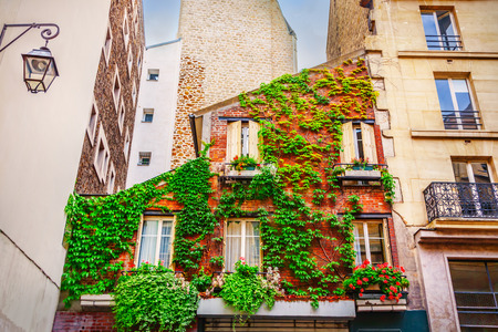 front house: Facade of building in Paris, France