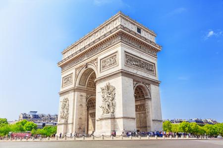 凱旋門、パリ、フランス 写真素材