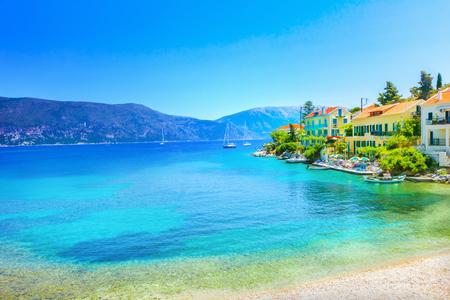 sea of houses: Fiskardo village, Kefalonia island, Greece