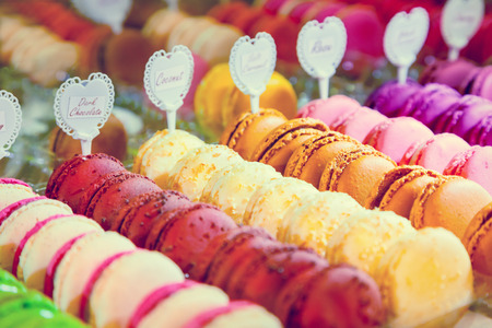 boulangerie: Macarons Stock Photo
