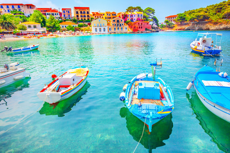 Assos village, Kefalonia island, Greece Stockfoto
