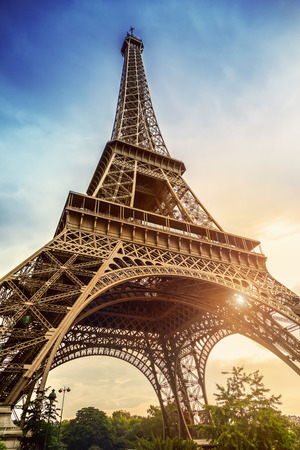 tower: The Eiffel Tower in Paris Stock Photo