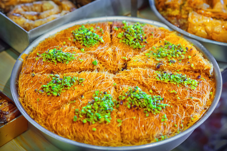 pastry: Kataifi pastry Stock Photo