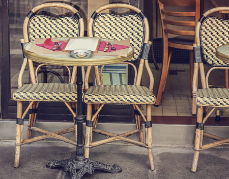 cafe table: Street cafe