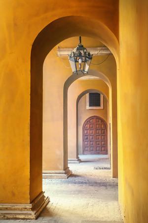 archway: Stone archway