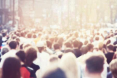 persone: Folla di persone  Archivio Fotografico