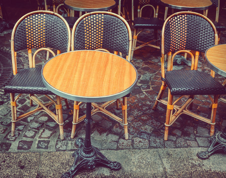 cane chair: Street cafe