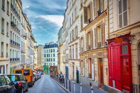 paris street: Montmartre in Paris