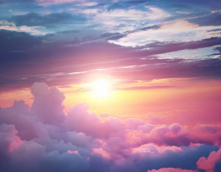 plan éloigné: Coucher du soleil